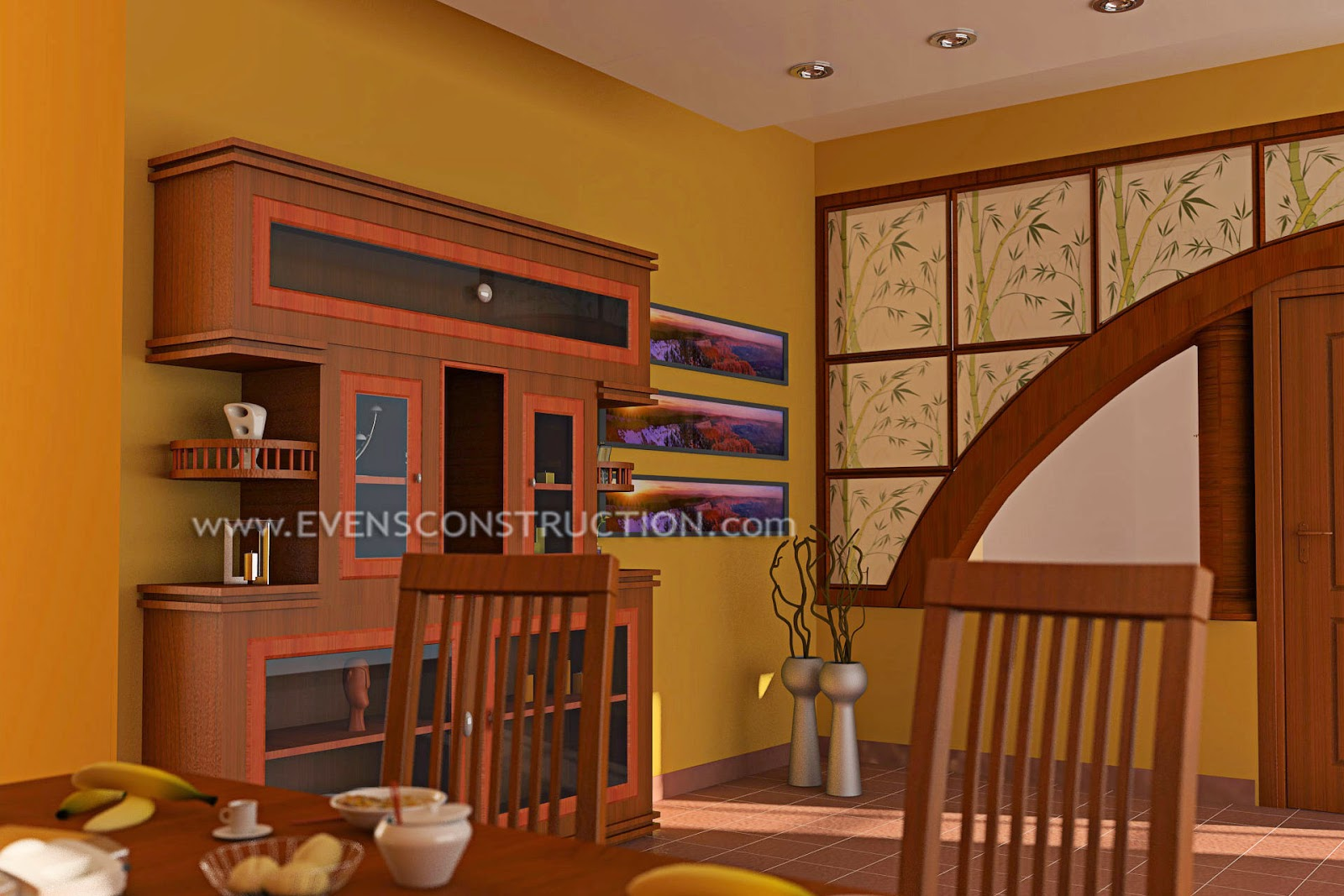 Dining Room With Crockery Shelf