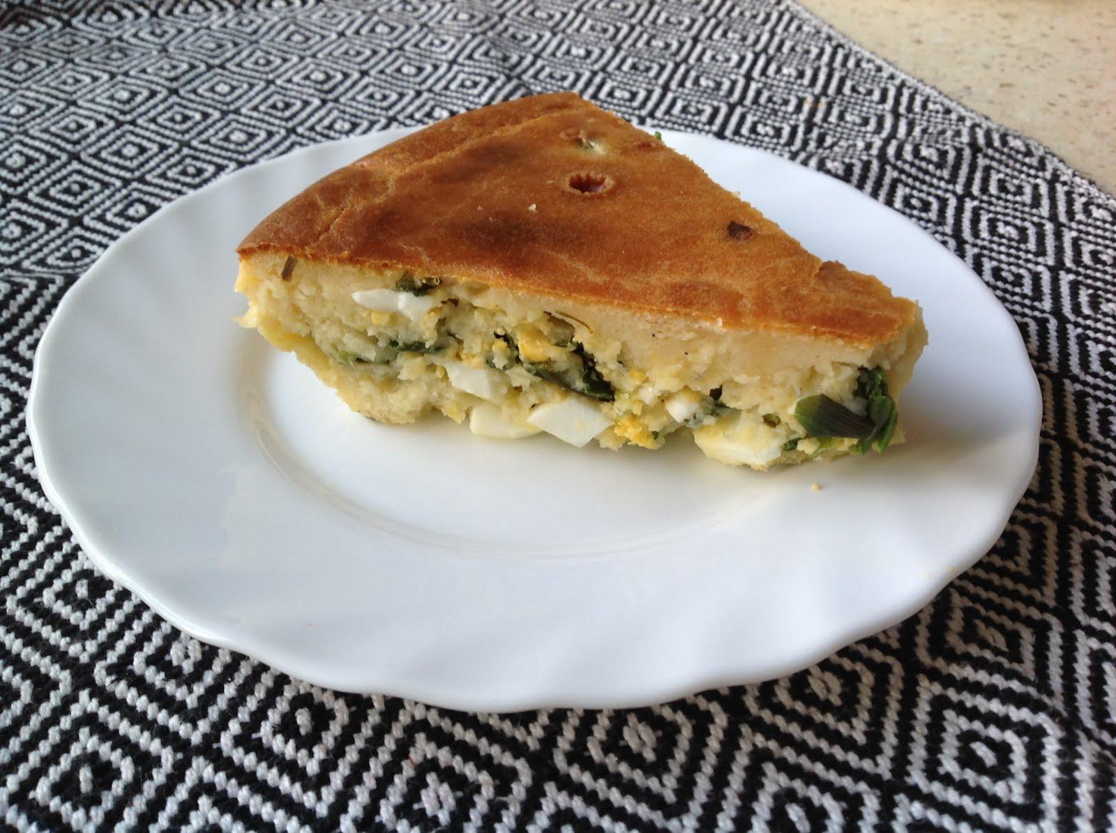 Рецепт пирога с луком и яйцом в духовке