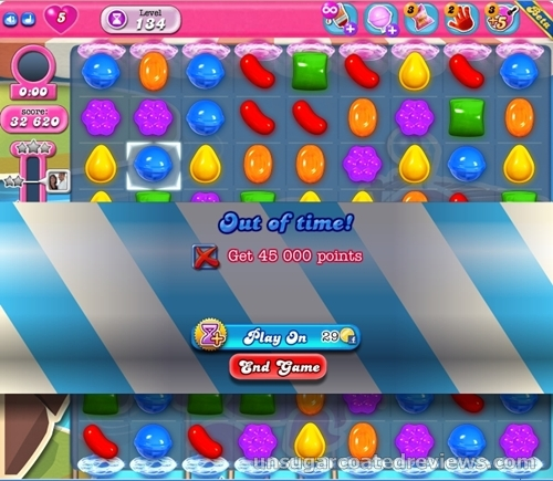 Candy Crush Saga game over
