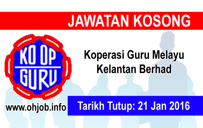 Jawatan Kosong Kerja Kosong Koperasi Guru Melayu Kelantan Berhad logo www.ohjob.info januari 2016
