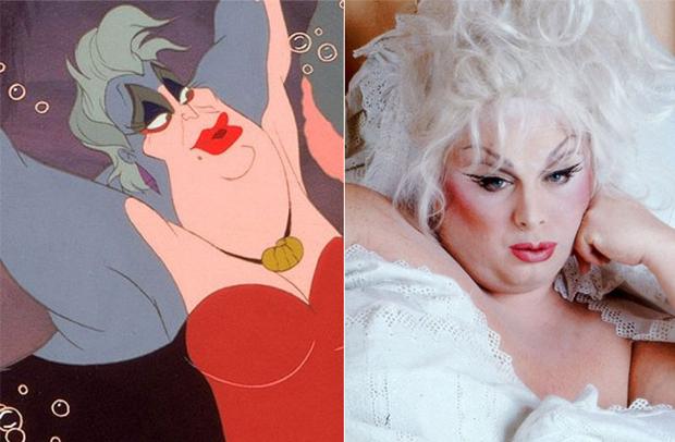 Os personagens da Disney na vida real - Úrsula – Divine