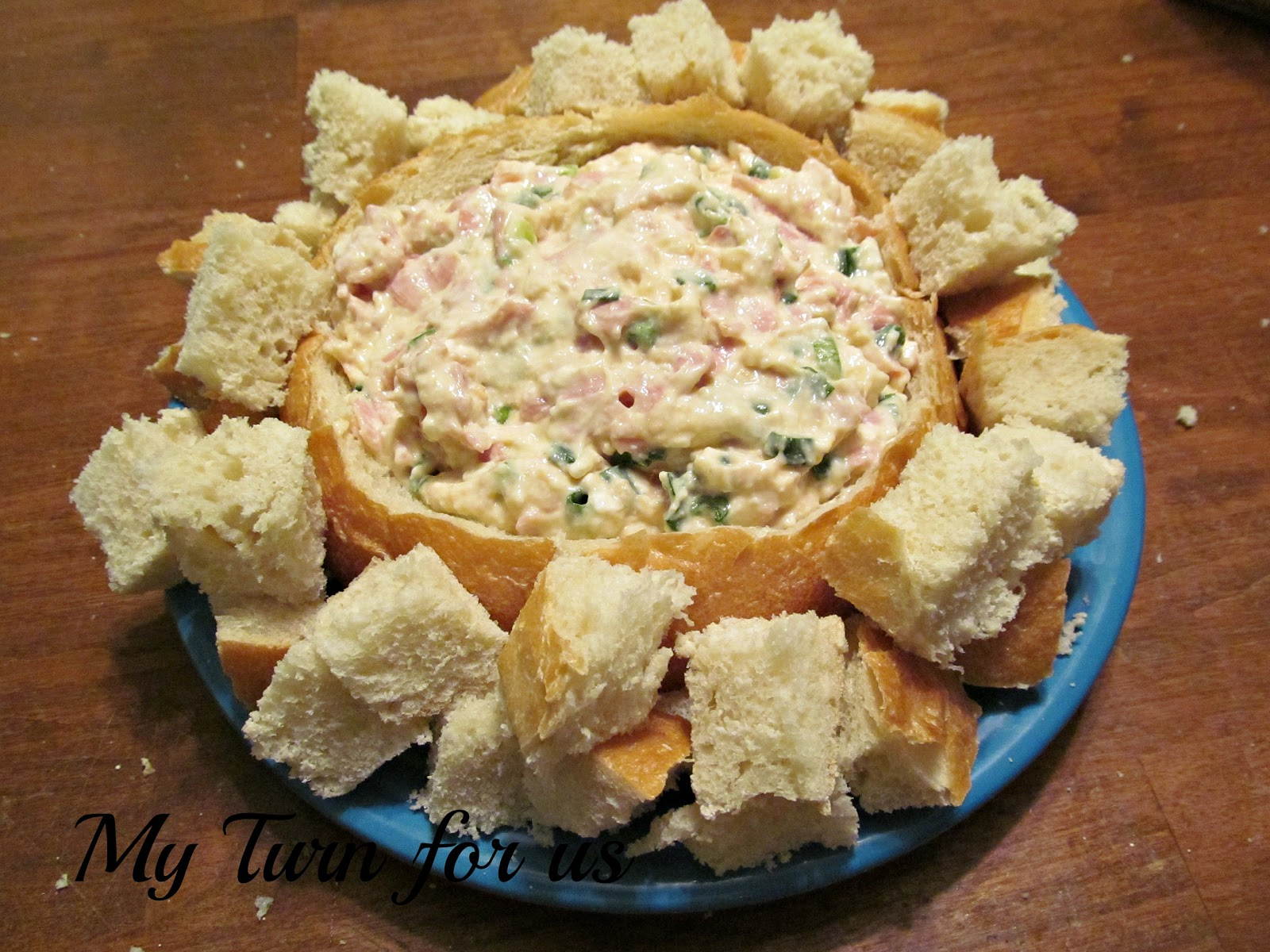 My Turn for us: Easy Shrimp Dip in Bread Bowl