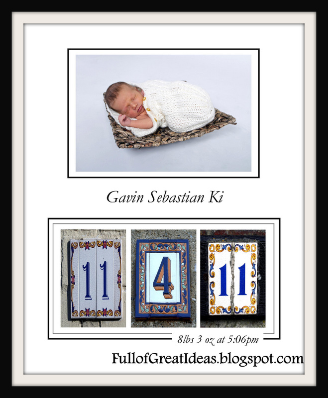 Full of Great Ideas: Birth Announcement Art - Step by Step Tutorial