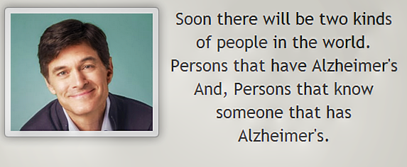 Dr Oz Alzheimer's Quote