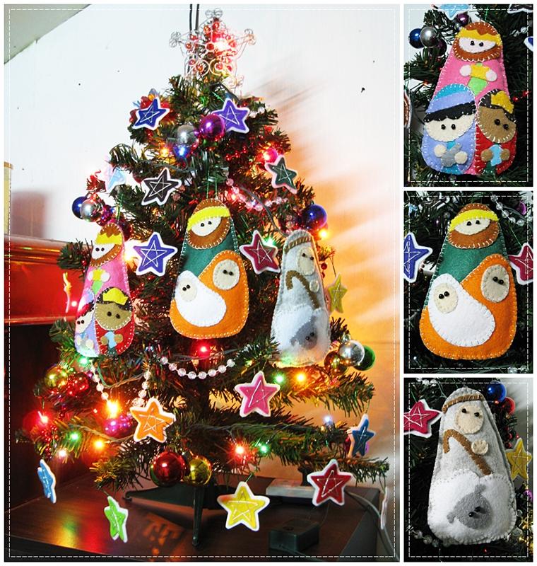 What madeleine loves felt nativity - Adornos de navidad 2015 ...