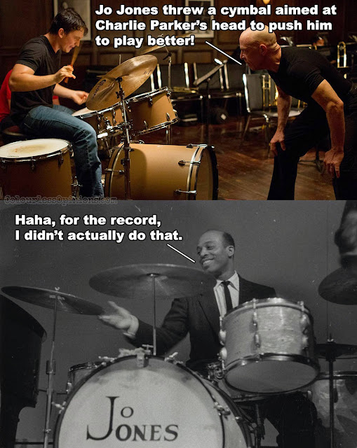 whiplash meme jo jones charlie parker