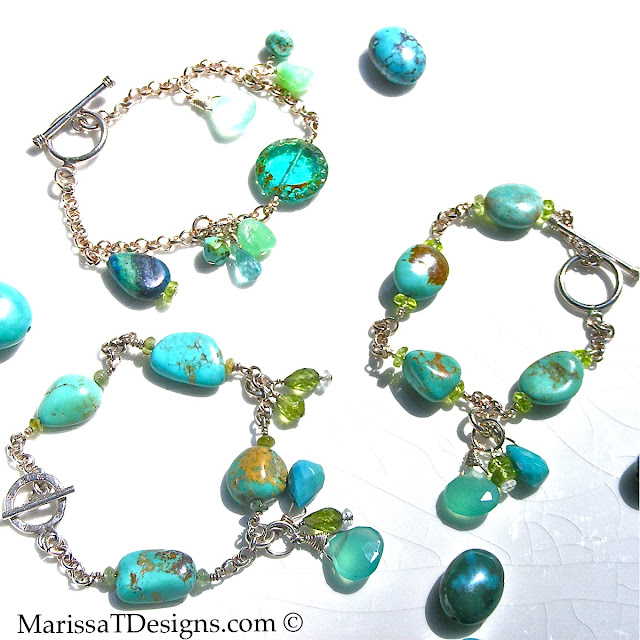 Turquoise Beauty. Handmade with Fine semi-precious gemstones & sterling silver. Marissa T Designs