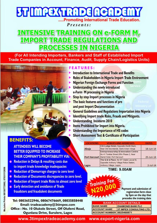 Nigeria to export ceramic tiles official premium times nigeria - Intensive Training On Import Trade Processes And Regulations