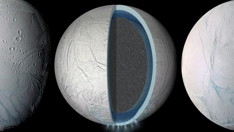 Confirmada una gran masa líquida en Encelado