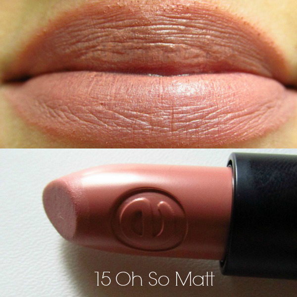 essence longlasting lipstick 15 oh so matt swatch