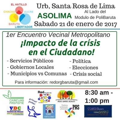 1er Encuentro de Redes Vecinales Metropolitana @RedOrgBaruta