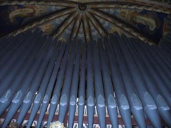 Le canne dell'organo della chiesa di Trebaseleghe (PD)