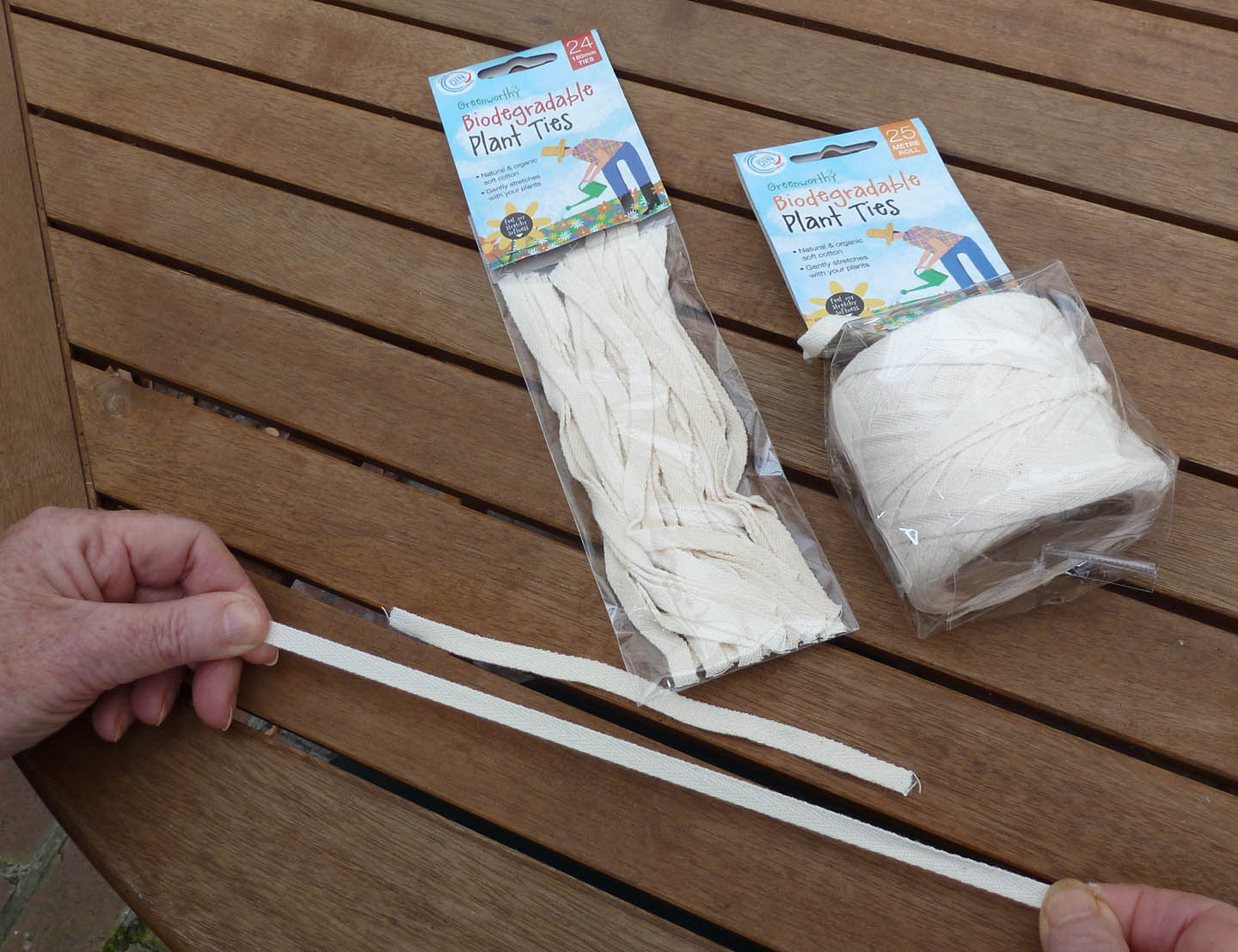 Biodegradable Plant Ties (Greenworthy). Pure Cotton And Biodegradable,  These Are Woven So They Stretch Gently And Donu0027t Cut Into Growing Plants.