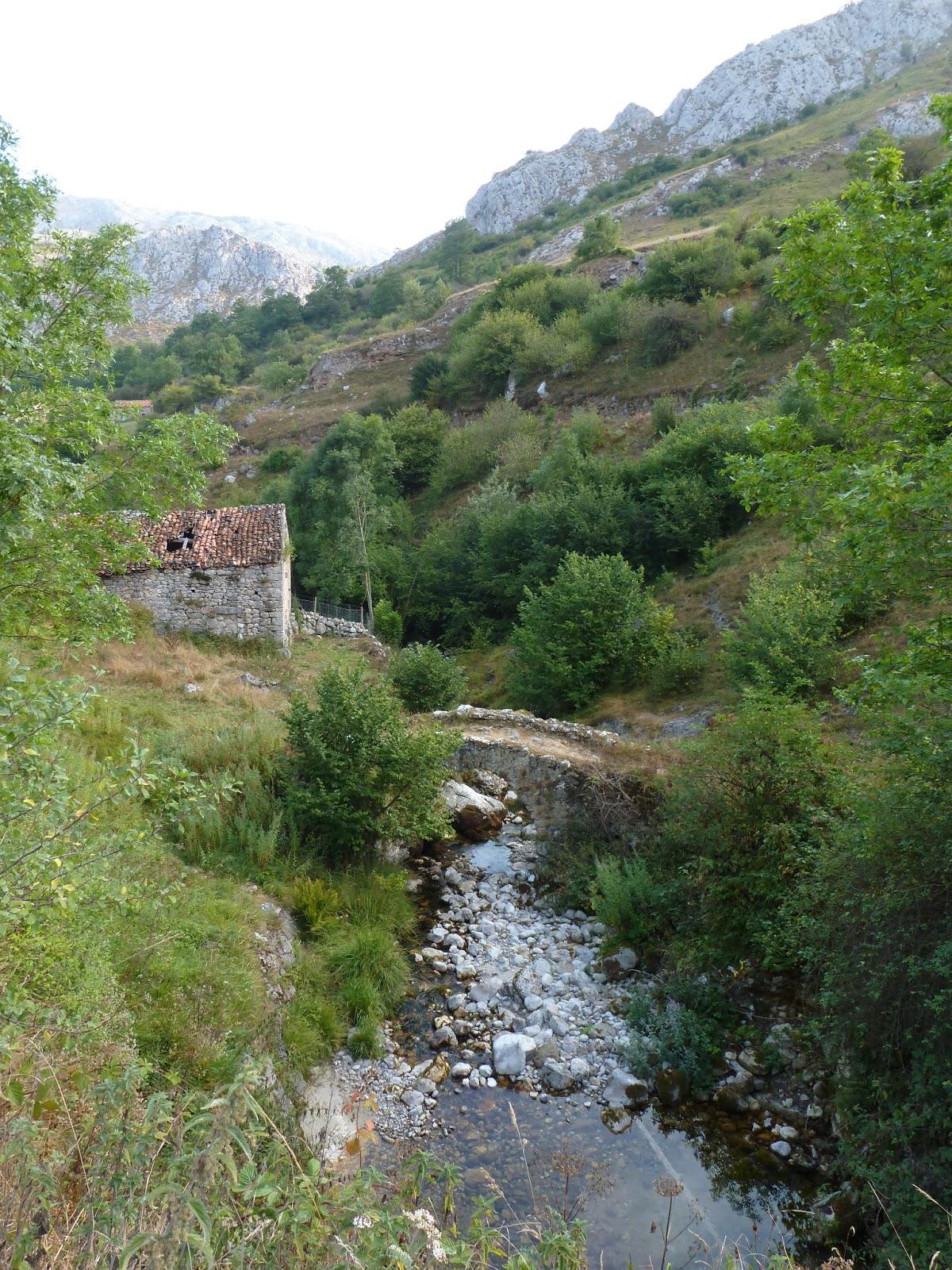 Bridge in abandoned village