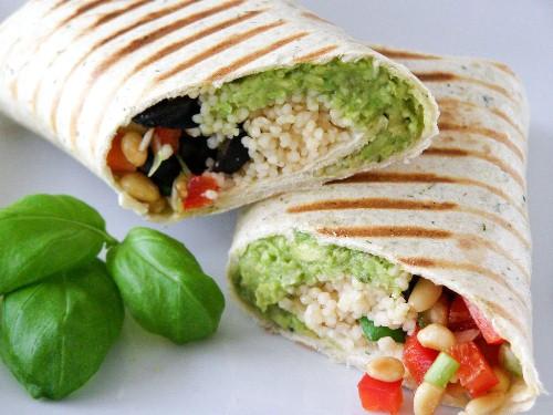 Mediterranean Couscous Wrap