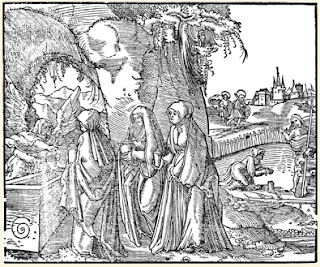 The Empty Tomb - from a book by Martin Luther