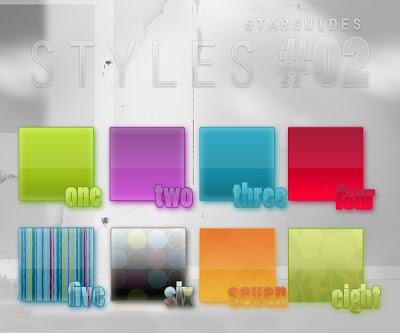 حزمة ستايلات الفوتوشوب الساطعة المجموعة الثانية bright styles pack 2 Arab-Design