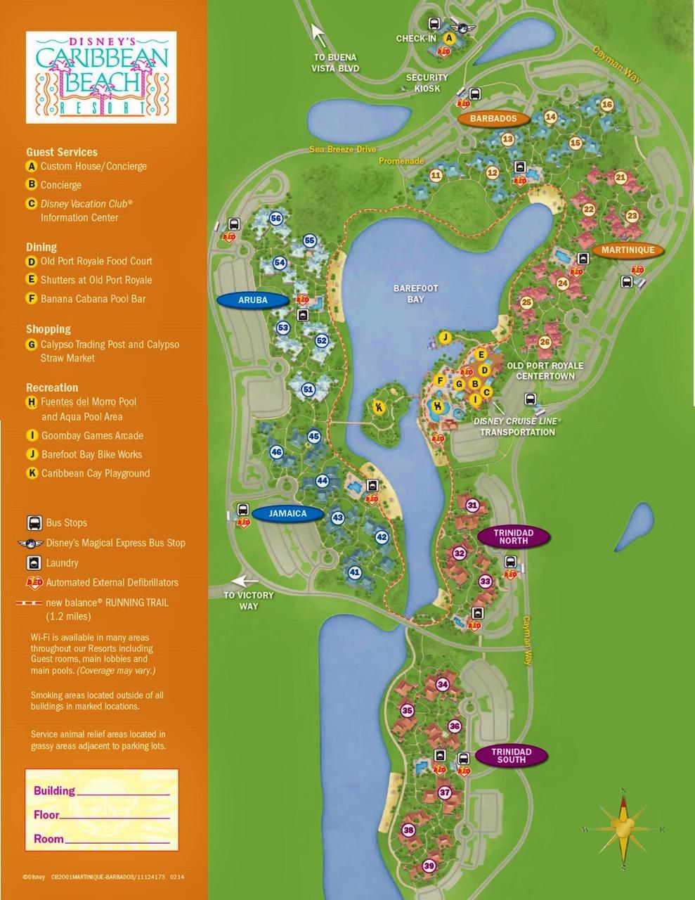 disney s caribbean beach resort map