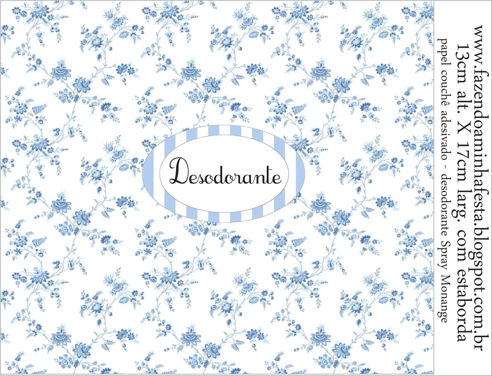Kit Toilet Banheiro Azul Provençal Fazendo a Minha Festa #3F658C 1600 1225