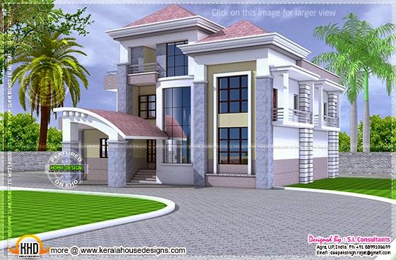 North Indian Unique Floor Plan Home Kerala Plans