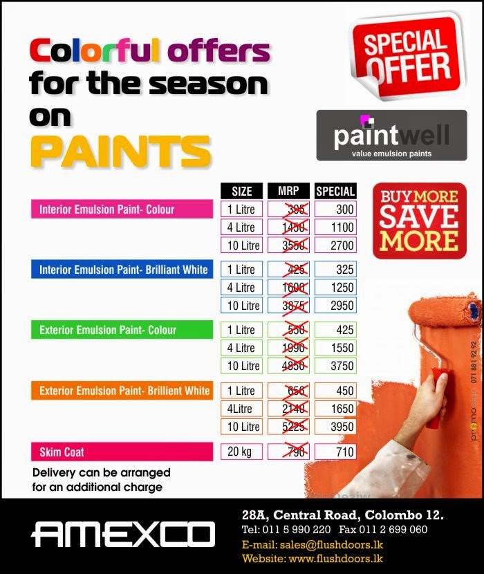 Colorful offers for the season on PAINTS.