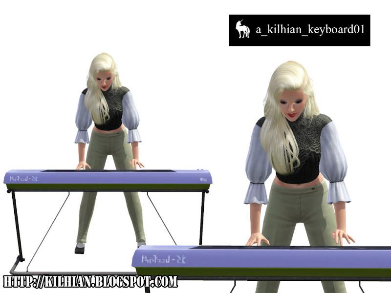 Pose Set N°01 - On Stage! by Kilhian Keyboard01