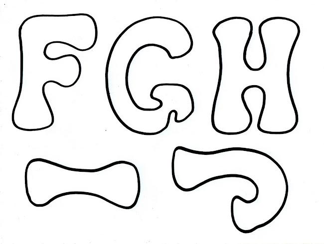 Moldes de letras para murales grandes - Imagui