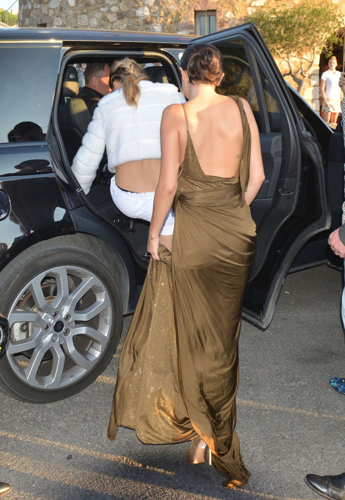 Selena Gomez arrives in Emilio Pucci then changes into Dior at Leonardo DiCaprio's Foundation Gala in Saint Tropez