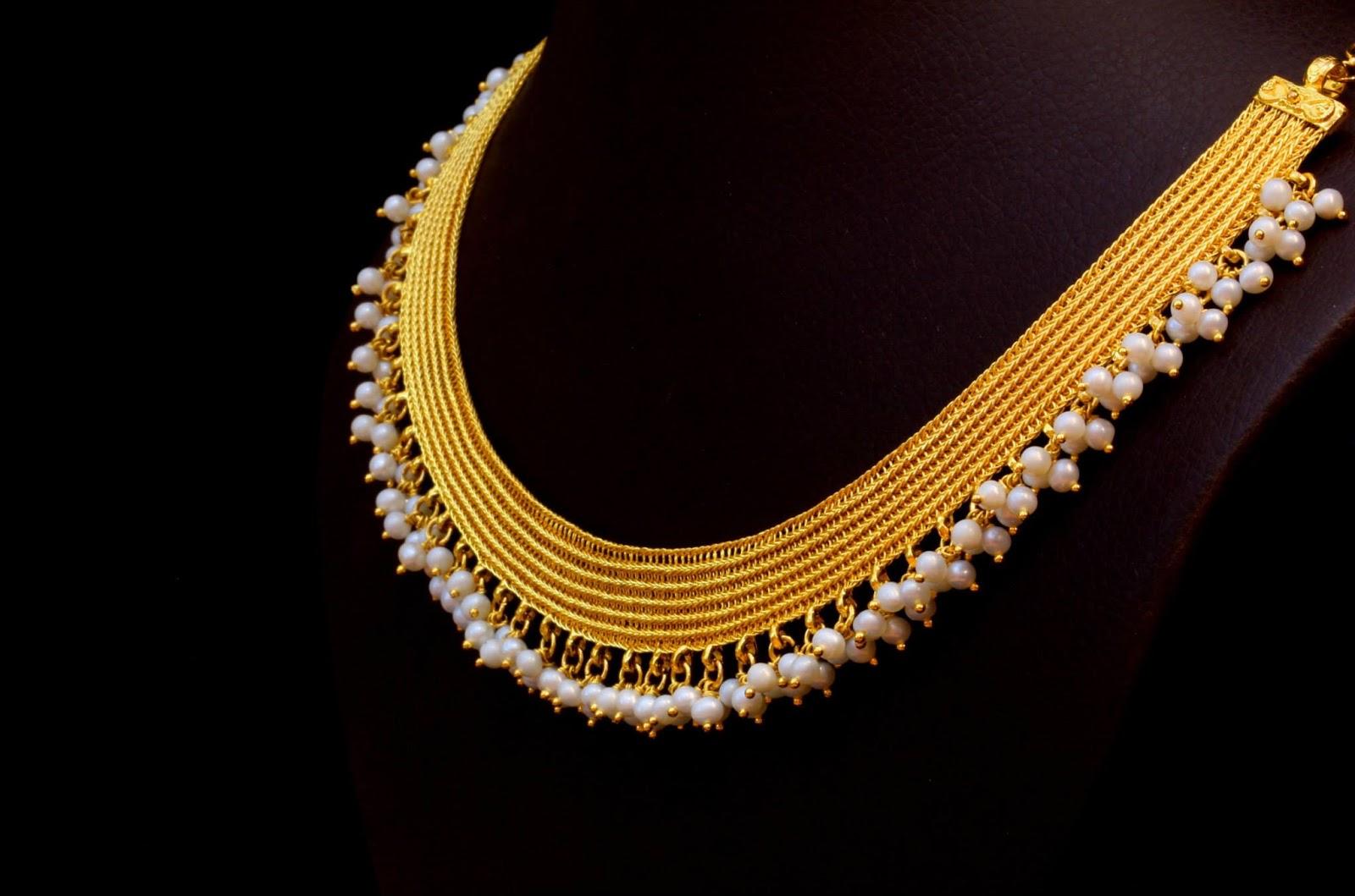 Kasavu Mala by Bhima Jewellers Jewellery Designs