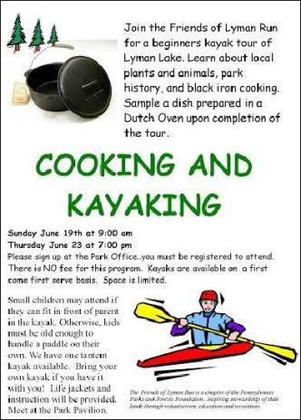 6-23 Cooking & Kayaking