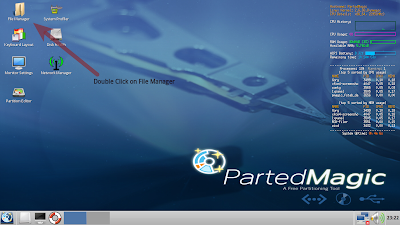 Parted Magic Desktop Screen