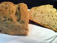 Pão Integral com Azeitonas (vegana)