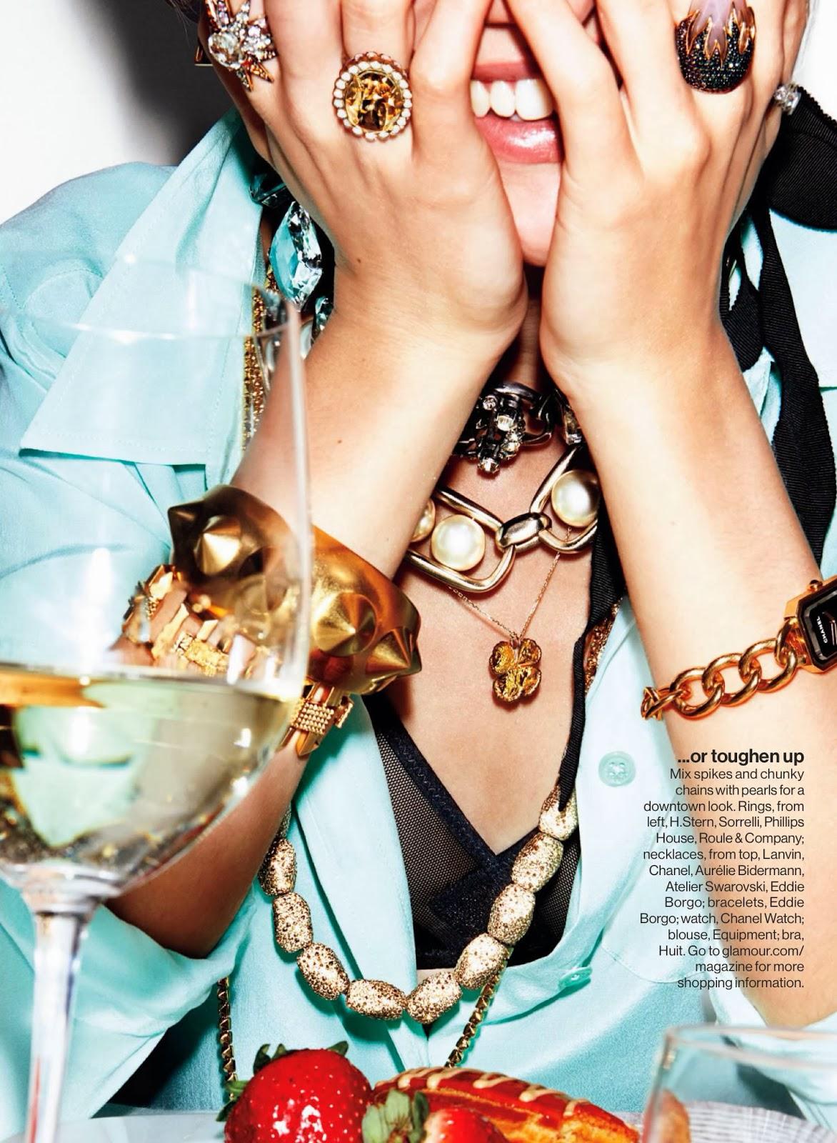 Magazine Photoshoot : Emily van Raay Photoshot For Jennifer Livingston Glamour Magazine US February 2014 Issue