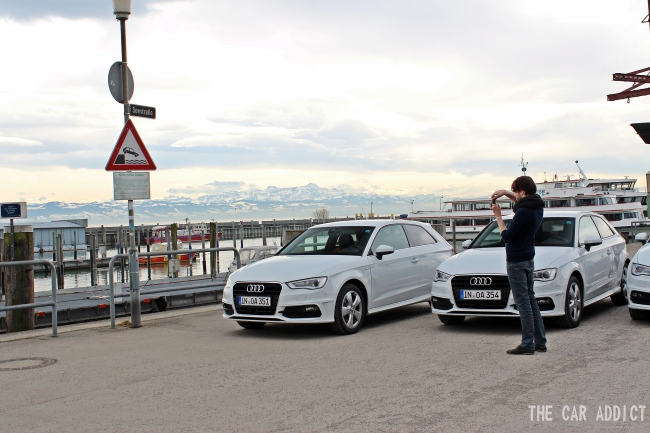Audi Efficiency Blogger Road Trip to the Geneva Motor Show 2013 with white Audi A3 2.0l TDI