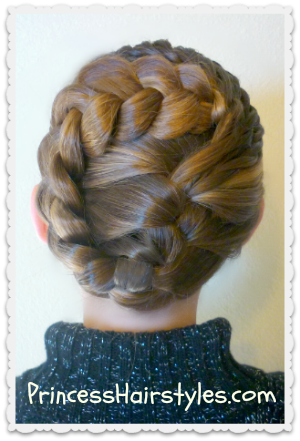 Holiday Hairstyles, Swirling Braids Updo Hairstyles For Girls