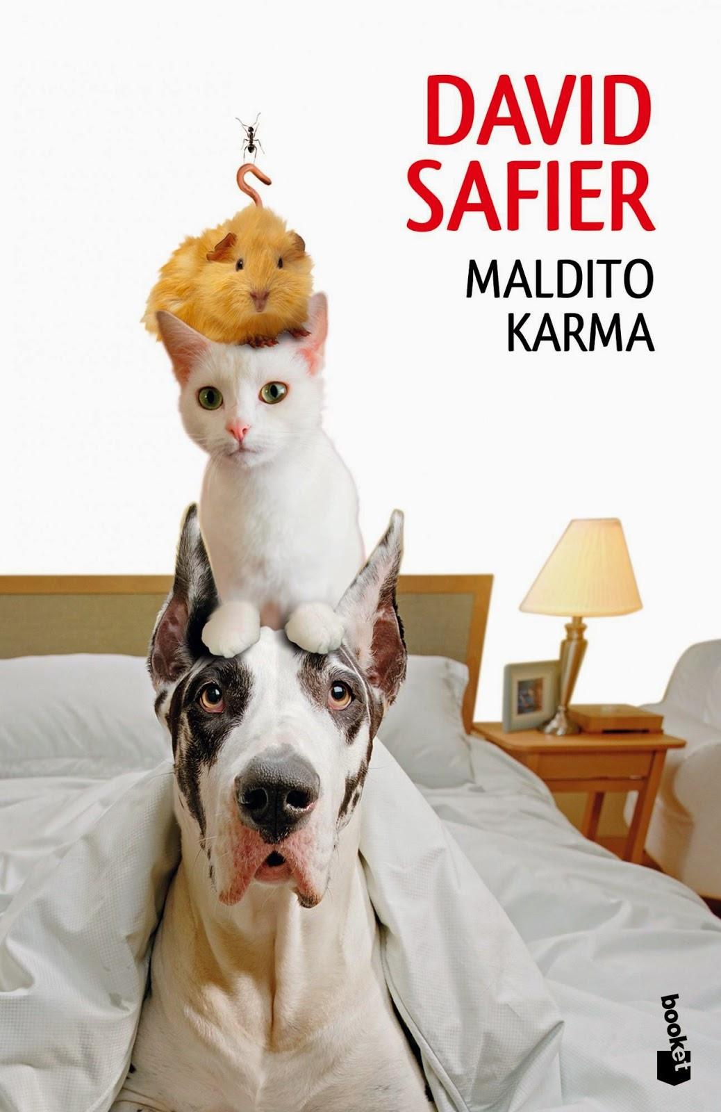 """Portada del libro """"Maldito karma"""", de David Safier"""