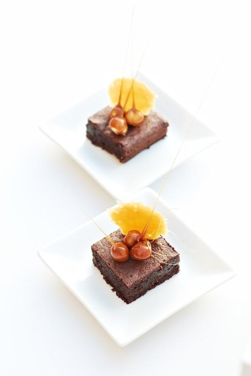 ... ~月の工作坊~: Dark Chocolate & Hazelnut Cake with Toffee Tuile