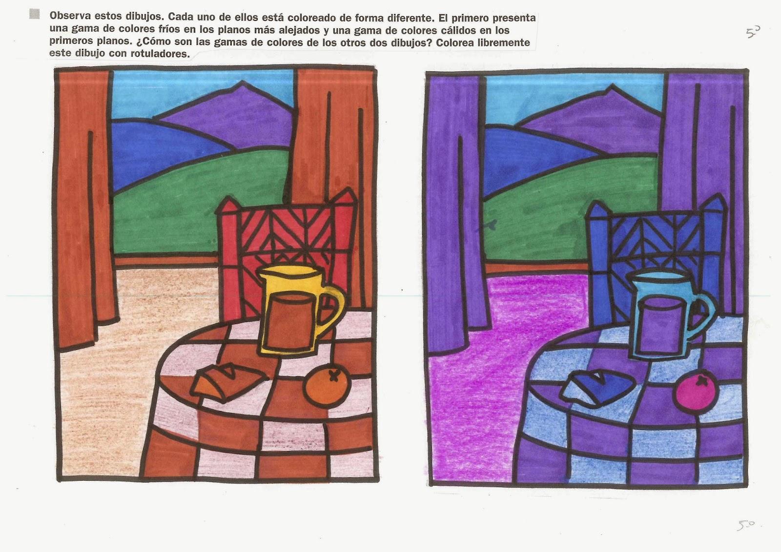 La clase de felipe v tarea para el lunes 23 de septiembre - Paisaje con colores calidos ...