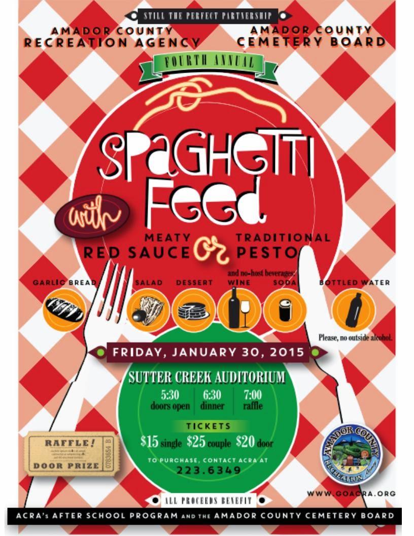 4th Annual Spaghetti Feed - Fri Jan 30