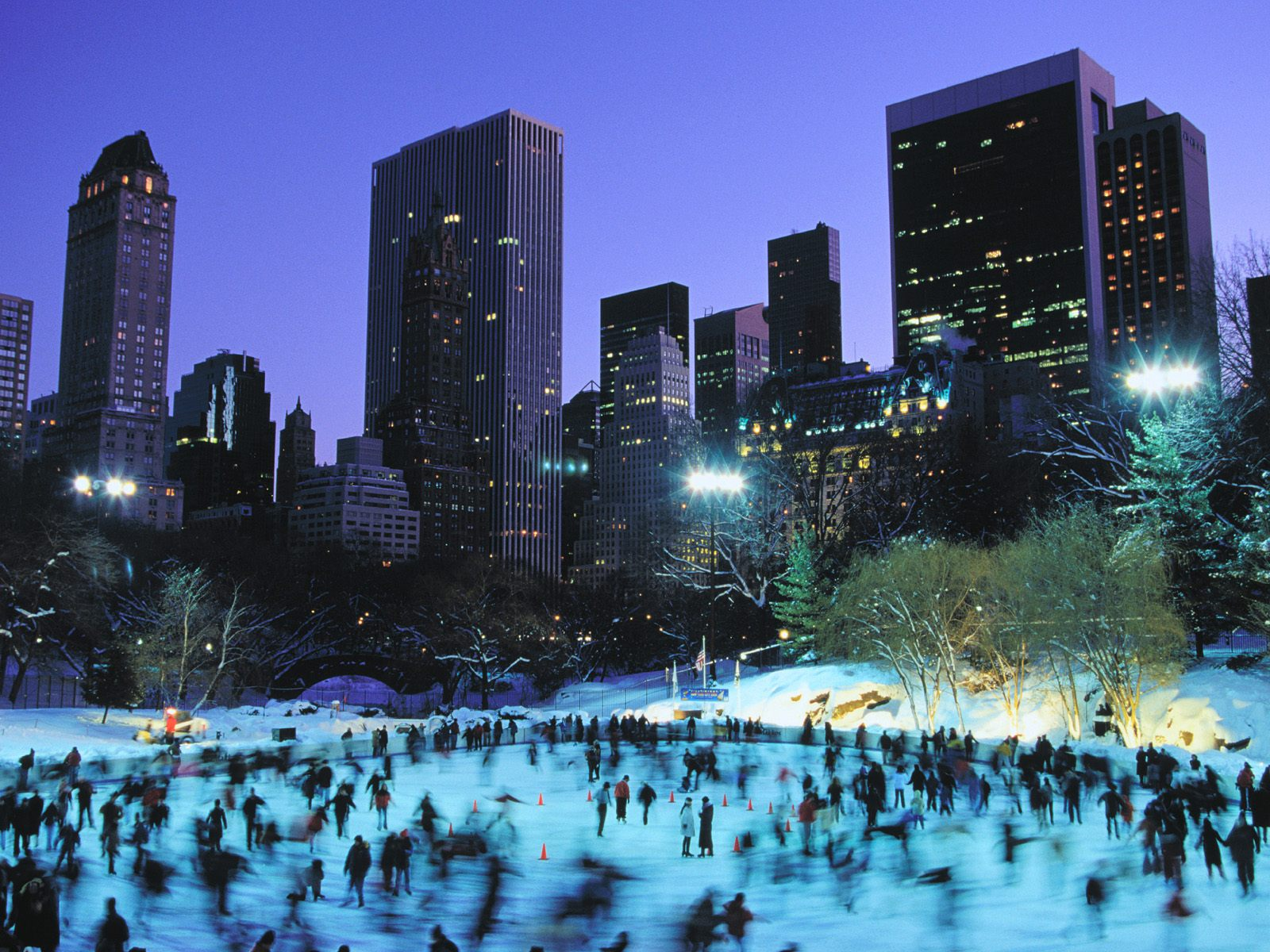 World beautifull places the central park new york for Places to see in nyc at night