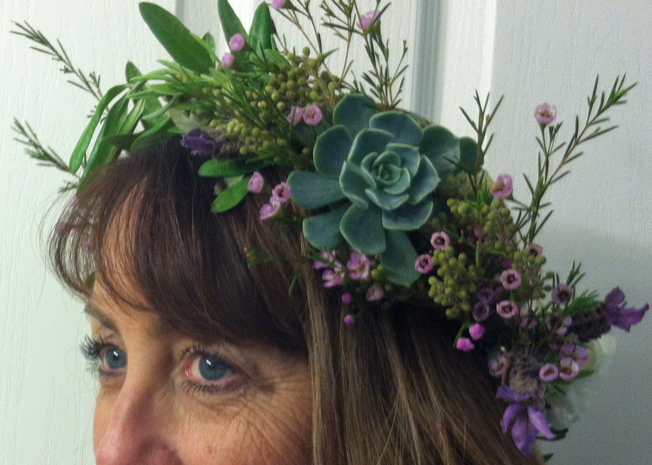 Succulent Headpiece Simply Beautiful Weddings And Events