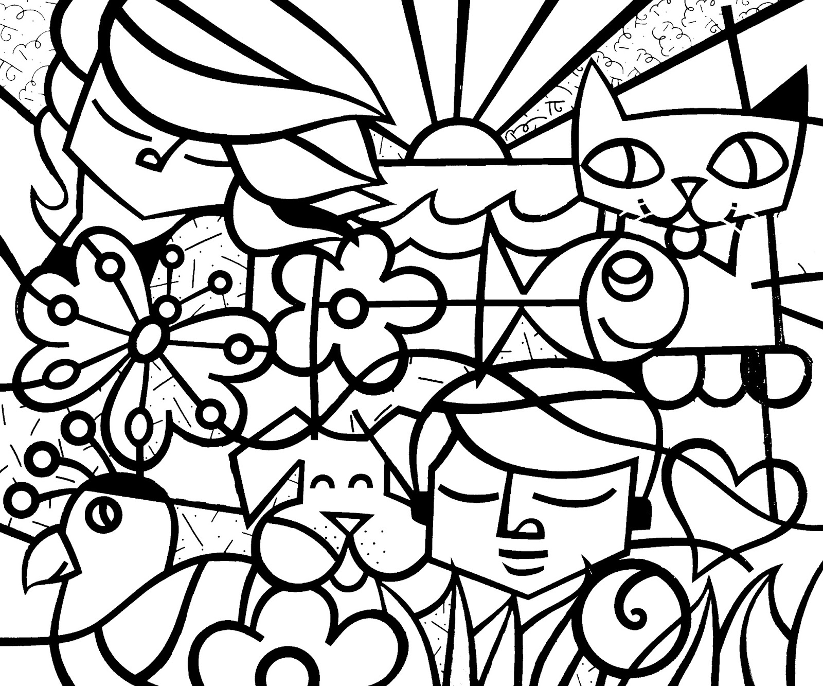 Free Romero Britto Coloring Pages Romero Britto Coloring Pages