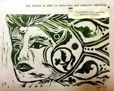 Linocut on Kozo paper