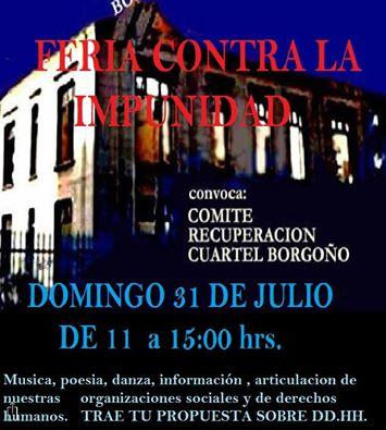 SANTIAGO:  FERIA CONTRA LA IMPUNIDAD