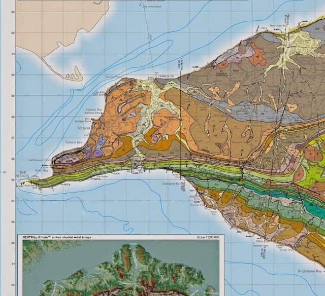 Isle of Wight special sheet. Geological Survey of England and Wales 1:50,000 map. 2013