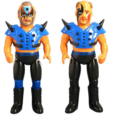 "WWE ""Blue Shoulder Pads"" Edition The Legion of Doom Sofubi Vinyl Figures by Medicom - Road Warrior Hawk & Road Warrior Animal"