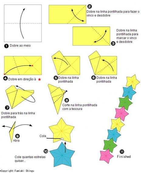 how to make a post it ninja star