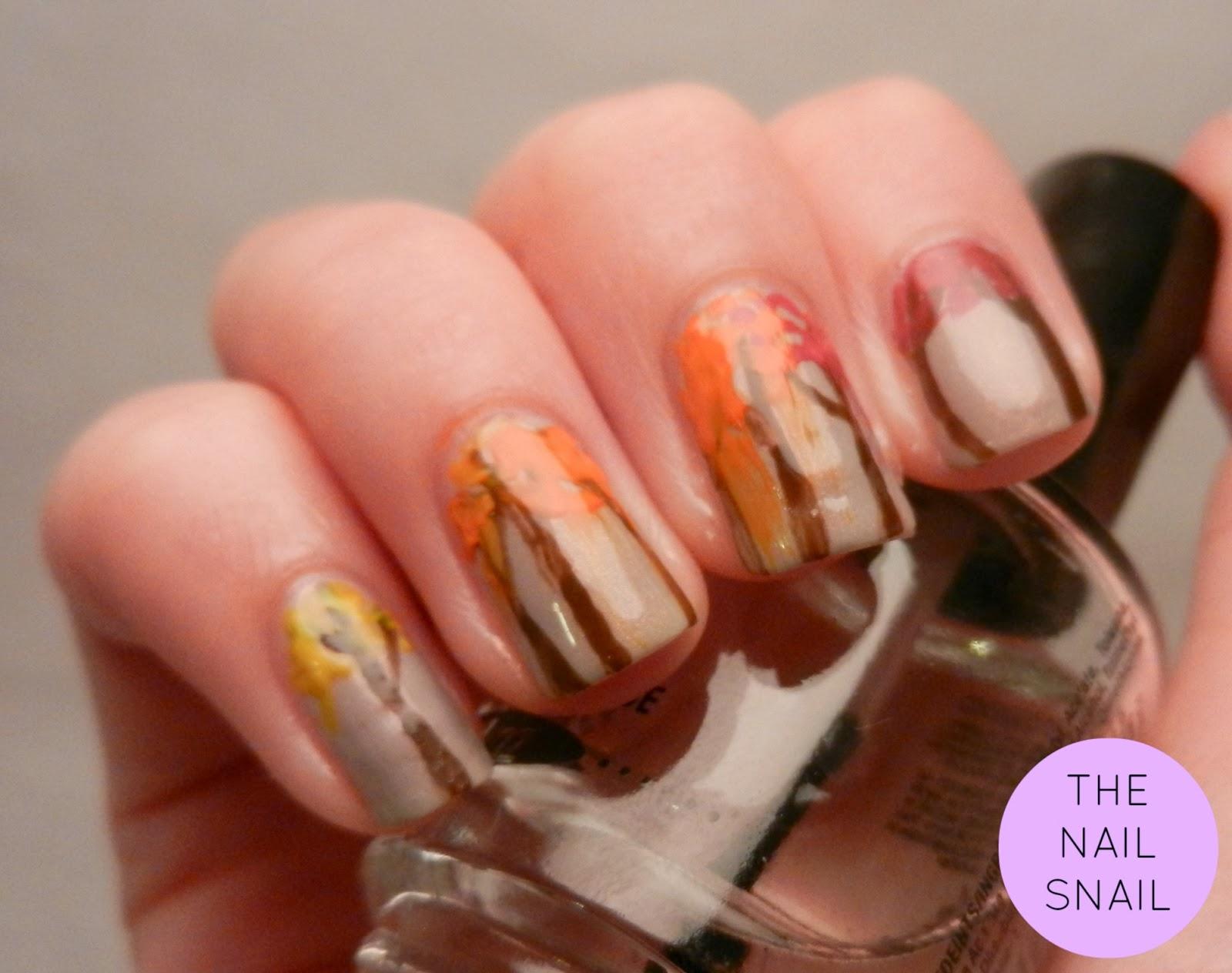 The Nail Snail: Fall Trees {50th Post!}