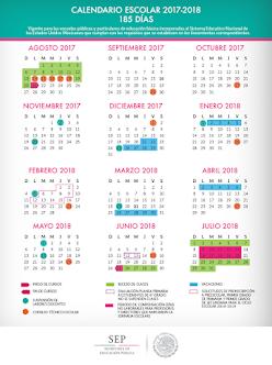 CALENDARIO ESCOLAR 185 DÍAS