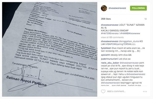 PANAS! Diva AA Buat Laporan Polis, Diugut Individu Di Instagram